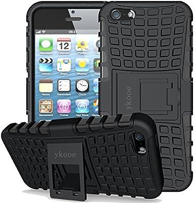 ykooe Funda para iPhone 5, (TPU Series) iPhone 5s Híbrida Doble Capa Teléfono Móvil Carcasa Antigolpes Funda con Soporte para iPhone 5 5s se