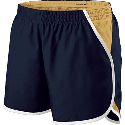 Holloway Sportswear Girls Energize Shorts. 229425 Navy / Vegas Gold / White XL by Holloway