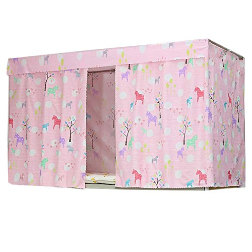 - FANCY PUMPKIN Stylish Canopy Bed Curtains Bunk Bed Curtain Student Dormitory Shading Cloth for Single Bed, C-20
