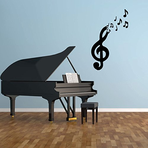Cute Music Notes Wall Decal - Musician Gifts For Bedroom, Playroom or Studio Room Decoration