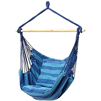 Medium image of hammock swing chair   48 inches hanging rope chair porch swing outdoor chair lounge camp seat