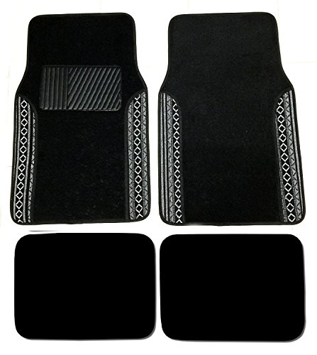 white and black car floor mats - 1