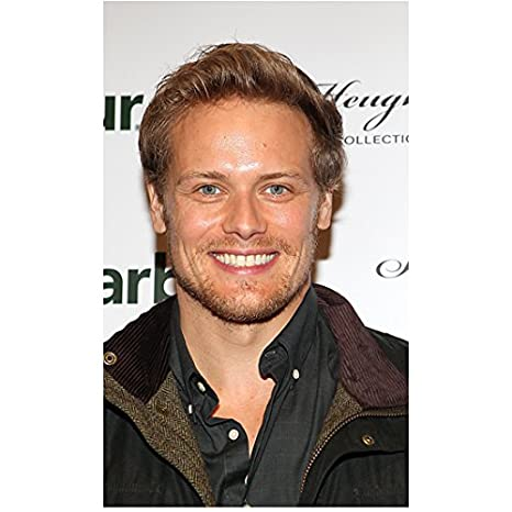 Sam Heughan from Outlander Close Up Looking Handsome with Dreamy