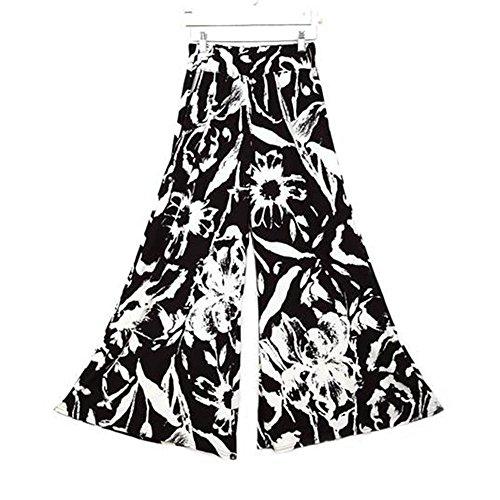 Vin beauty Nero bianco Signore delle donne Vogue Inoltre Yoga ampia Leg pantaloni palazzo Pantaloni Elastico Splash-ink