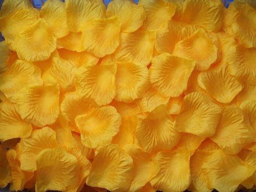 1000 PCS Fabric Silk Flower Rose Petals Wedding Party Decoration Table Confetti - Gold