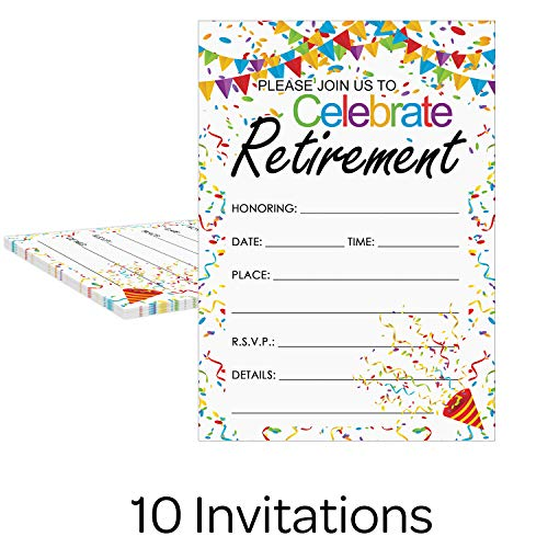 Buy retirement party invitations with envelopes for men