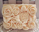 Creativemoldstore 1pcs Square Small Roses(zx78) Craft Art Silicone Soap Mold Craft Molds DIY Handmade Soap Mould