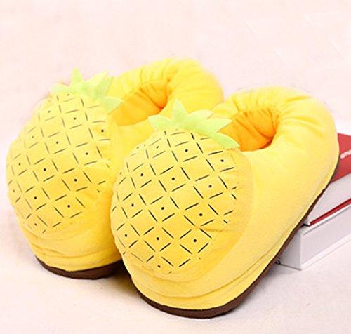 [Relaxcos Fruit Pineapple Warm Slipper For Child Christmas Gift(Size:US 7)] (Pineapple Costume Girl)