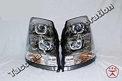 Chrome Projector Headlights With LED Halos for Volvo VNL 2004+   SET