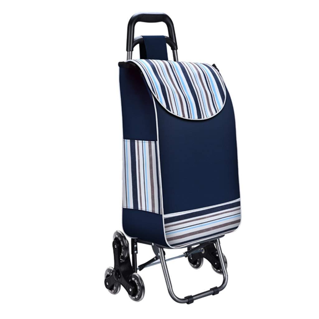 ショッピングキャリー 食料品の買い物カゴ折りたたみ式トロリー携帯用トロリーホームクライミング階段のショッピングカート古い小型トレーラー耐荷重80kg ショッピングバッグ (Color : Blue, Size : 30*23*93cm) B07PR1QWQZ Blue 30*23*93cm