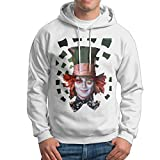 Memoy Men's Mad Tea Hatter Casual Hoodies M White