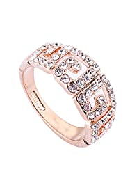 Acefeel Fashion Wild Gold Plated Pave Austrian Drilling Ring Mother's Day Valentine's Day Gift R183