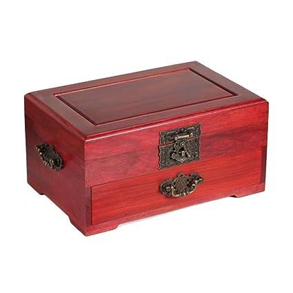 NAN Caja de madera de Rosewood Antigua Caja de madera de madera Caja de madera de