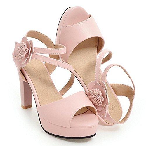 Alto RAZAMAZA Sandali Donna Peep Pink Toe Tacco qa6nEgrfa