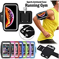 Global Craft Waterproof Hand Fitness Gym Case Arm Band for Jogging Armband & Key Holder Sports Armband for 6.3 Inch Mobile. Model 198718