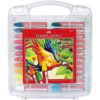 Faber-Castell Blendable Oil Pastels In Durable Storage Case- 24 Vibrant Colors - Non-Toxic Pastels for Kids