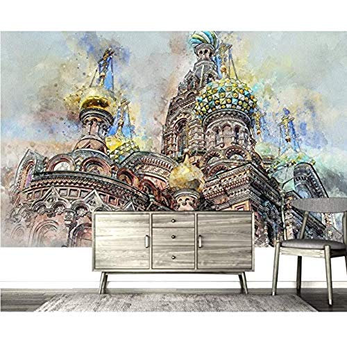 Wallpapers Photo 3D N Photo Custom Mural Hand-Painted Castle Beautiful Scenery for Living Room Home Decor Kids' Room,430cmX300cm