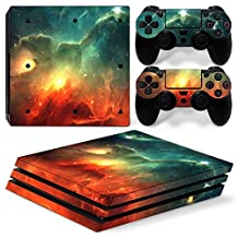 Ps4 Pro Playstation 4 Console Skin Decal Sticker Sky Galaxy + 2 Controller Skins Set