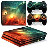 ZoomHit Ps4 PRO Playstation 4 Console Skin Decal Sticker Sky Galaxy + 2 Controller Skins Set