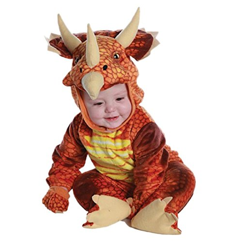 Baby T Rex Costume (NoveltyBoy Red Triceratops Toddler Child T-rex Dargon Costume Baby's T-Rex Suit Multicolor)