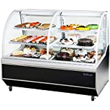 Turbo Air TCB5R Deli and Bakery Case with High Density PU Insulation Sloped Rear Doors Cantilevered Wired Shelves 5 Casters Independent Shelf Lights and Lift-Up Curved Front