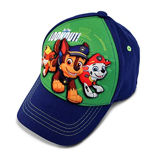Patrol Watch Cap - Nickelodeon Boys' Toddler Paw Patrol Character 3D Pop Baseball Cap, Blue/Green, Age 2-4