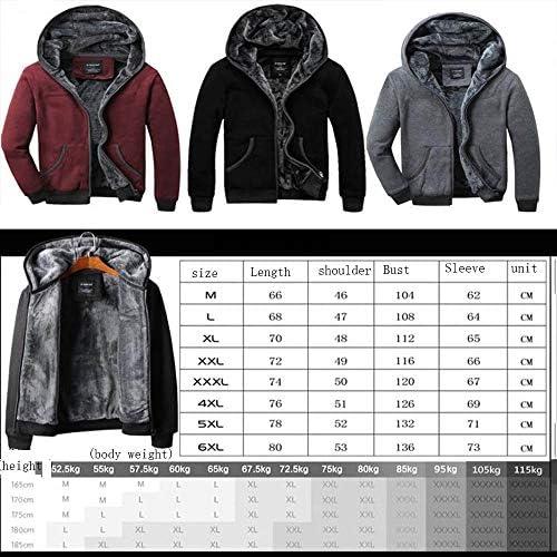zhangmeiren Männer Herbst Und Winter Plus Samt Strickjacke Mantel Dicken Samt Mit Kapuze Jacke Zu Erhöhen (Color : Black, Size : XX-Large)