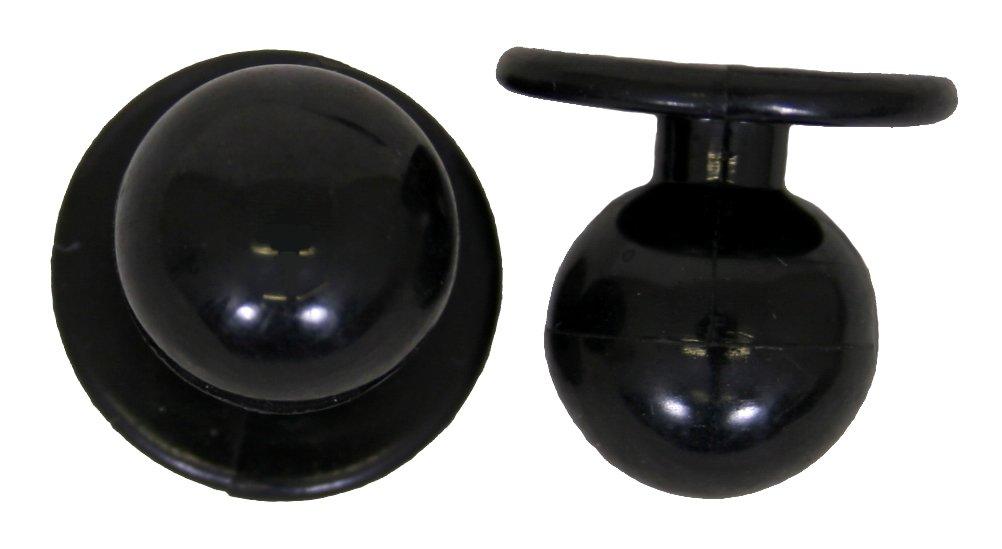 Leiber Bottoni sferici per giacca da cuoco, 1 sacchetto da 12 pezzi, nero 02-417