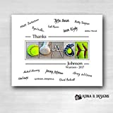 Softball-Coachs-Gift-with-players-signatures--Gift-for-Softball-Coach--11x14-with-border-for-signatures