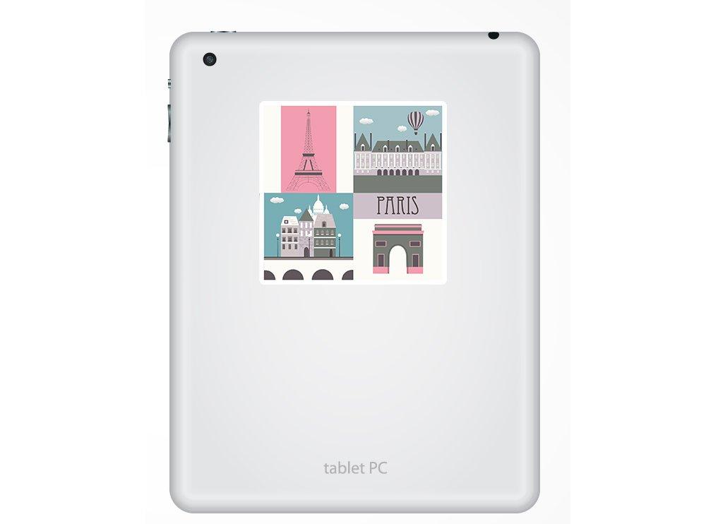 2 x Cute Paris Vinyl Stickers France French Pink Fun Travel Laptop Gift #10942