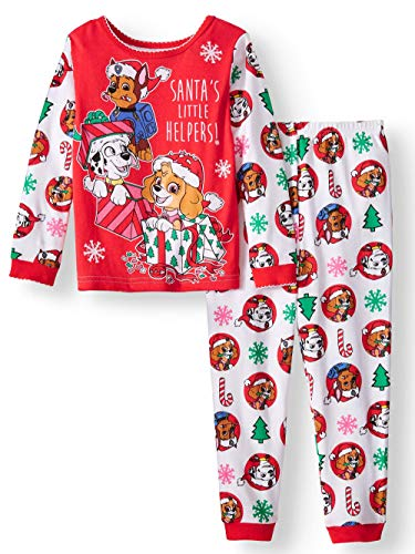 Paw Patrol Little Girls Toddler Long Sleeve Christmas Pajama Set (4T) ()