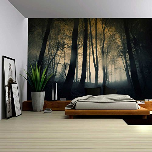 wall26 - Dark and Ominous Forest - Wall Mural, Removable Sticker, Home Decor - 100x144 inches by wall26 (Image #1)