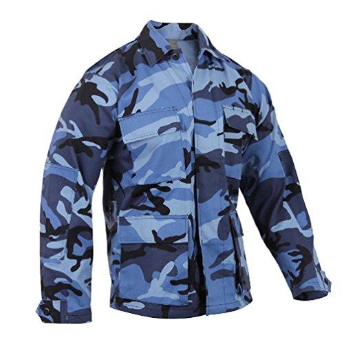 Sky Blue Camo Bdu Shirt - Sky Blue Camo Bdu Shirt