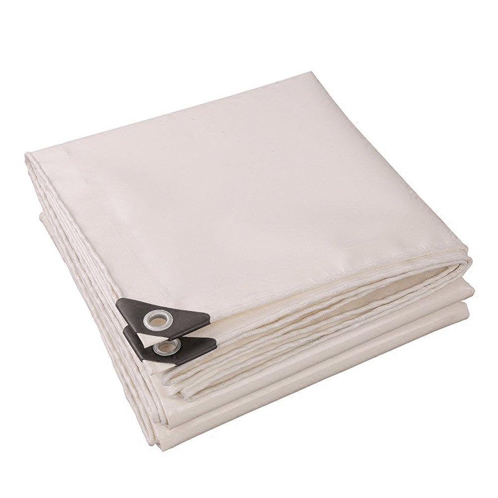 ホワイトカラーPVCプラス厚い雨布防水日保護9種類のサイズは倉庫用に使用することができます建設工場工場と企業湾岸埠頭 防水および防湿 (サイズ さいず : 4 x 4m) B07FD2ZT6X 4 x 4m  4 x 4m