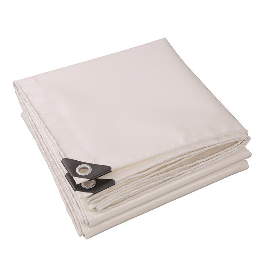 Tarpaulin White Color PVC Plus Thick Rain Cloth Waterproof Sun Protection 9 Kinds Size Can Be Used For Warehouses Construction Trucks Factories And EnterprisesGulf Pier (Size : 2 x 2m)