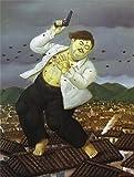 YCC Death of Pablo Escobar, Fernando Botero Canvas Art Print, Size 24x36, Non-Canvas Poster Print