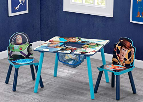 51nZ%2B0T4ZsL - Delta Children Kids Chair Set and Table (2 Chairs Included), Disney/Pixar Toy Story 4