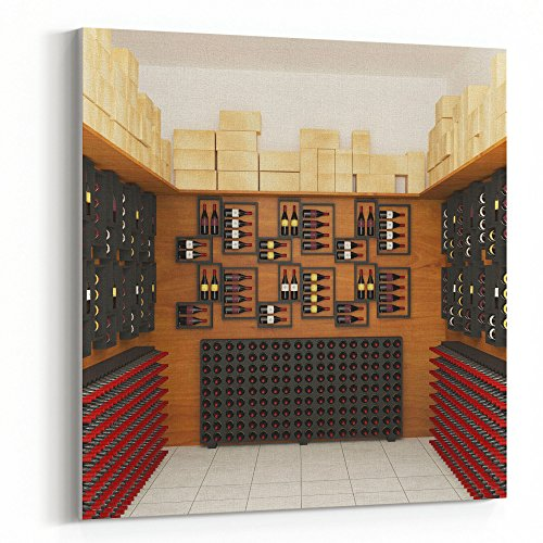 Westlake Art - Wine Cellar - 24x24 Canvas Print Wall Art - Canvas Stretched Gallery Wrap Modern Picture Photography Artwork - Ready to Hang 24x24 Inch