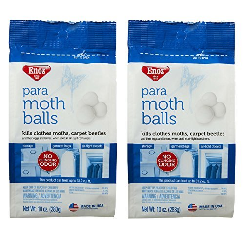 Enoz Para Moth Balls for Moths and Carpet Beetles, 80-mothballs, 2-pack (160 Count)