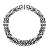 """Sterling Silver 6.5-7mm Freshwater Cultured High Luster Pearl 3-rows Necklace, 18"""""""