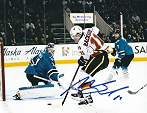 Autographed Mikael Backlund 8x10 Calgary Flames Photo