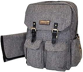 400da1c4d734 Waterproof Convertible Diaper Bag Backpack by White Elm