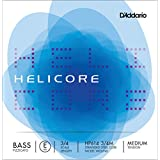 D'Addario Helicore Pizzicato Bass Single E String, 3/4 Scale, Medium Tension