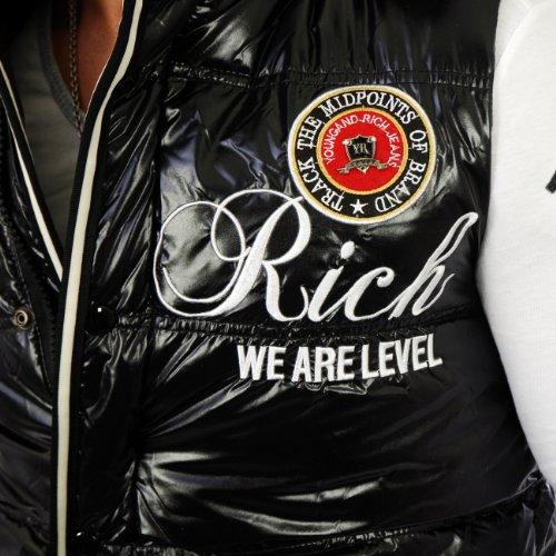 Young & Rich Herren Steppweste YR-8984 Schwarz