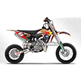 Kungfu Graphics Motorcycle Dirt Bike Aftermarket Décor Wrap, Racing Sticker Pack, Fit 2009 up tp 2015 KTM SX 50 50 Mini , Print Number and Name