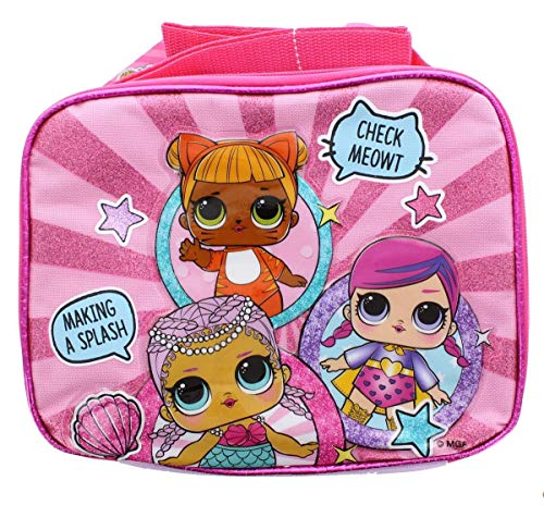 (Accessory Innovations LOL Surprise! Showtime Insulated Pink Lunch Tote w/ Shoulder Strap)