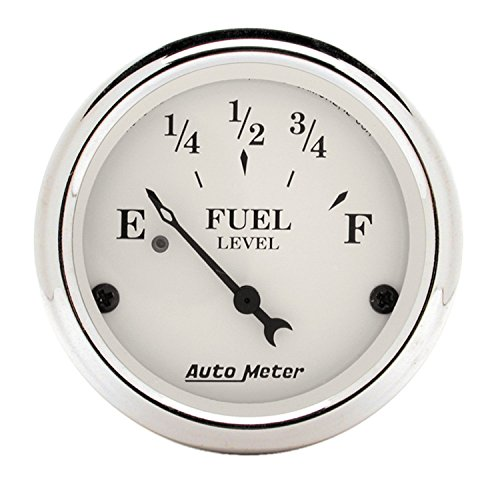 - Auto Meter 1606 Old TYME White Fuel Level Gauge