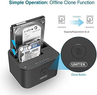 Amazon.com: Unitek USB 3.0 a SATA I/II/III Mini Dual Bay ...