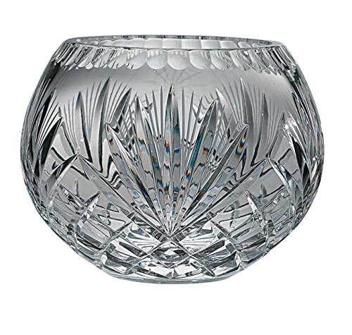 - Majestic Gifts Hand Cut Crystal Bowl, 5-Inch, Rose