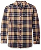 RVCA Men's Ludlow Flannel Long Sleeve Woven Button UP Shirt, Pirate Black, M
